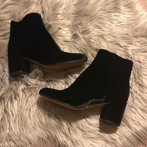 Black Suede Booties🆕